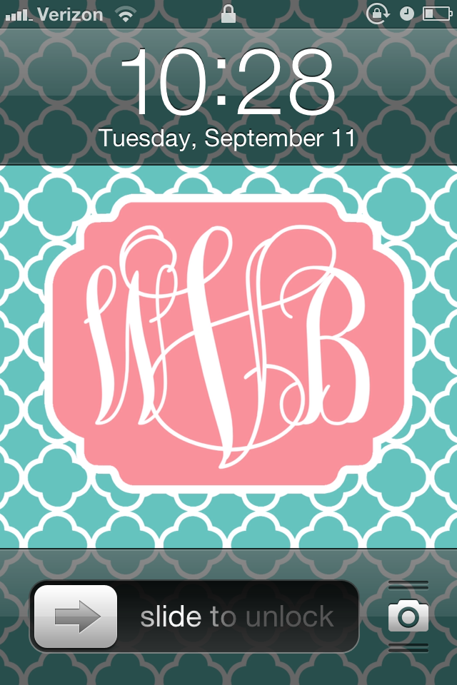 diy monogram iphone wallpaper whitney blake