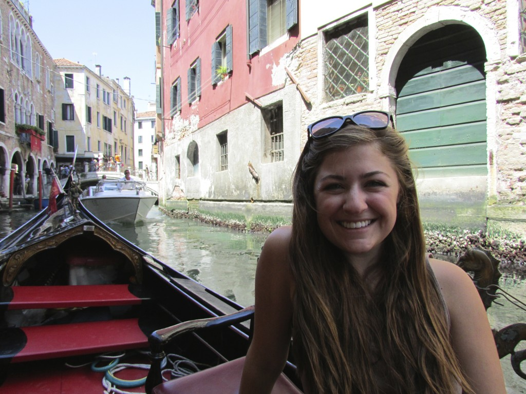 Gondala ride in Venice!