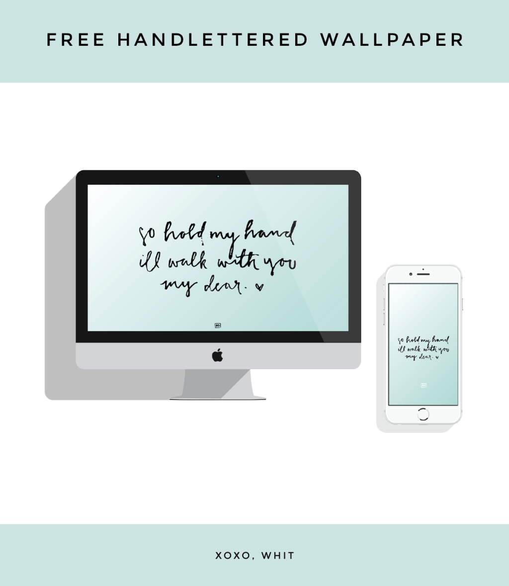 Free Handlettered Wallpaper