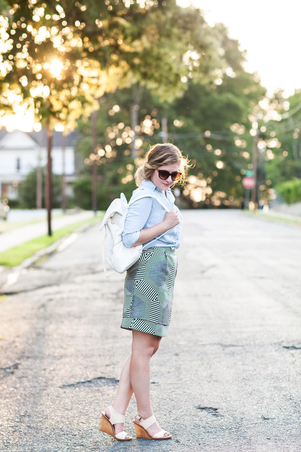 Anthropologie Geomaze Skirt