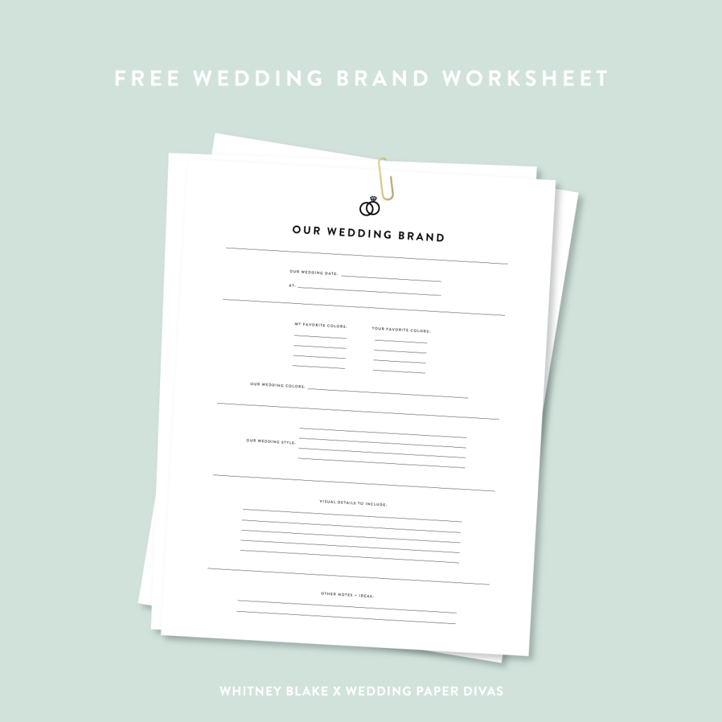 Wedding Brand Checklist