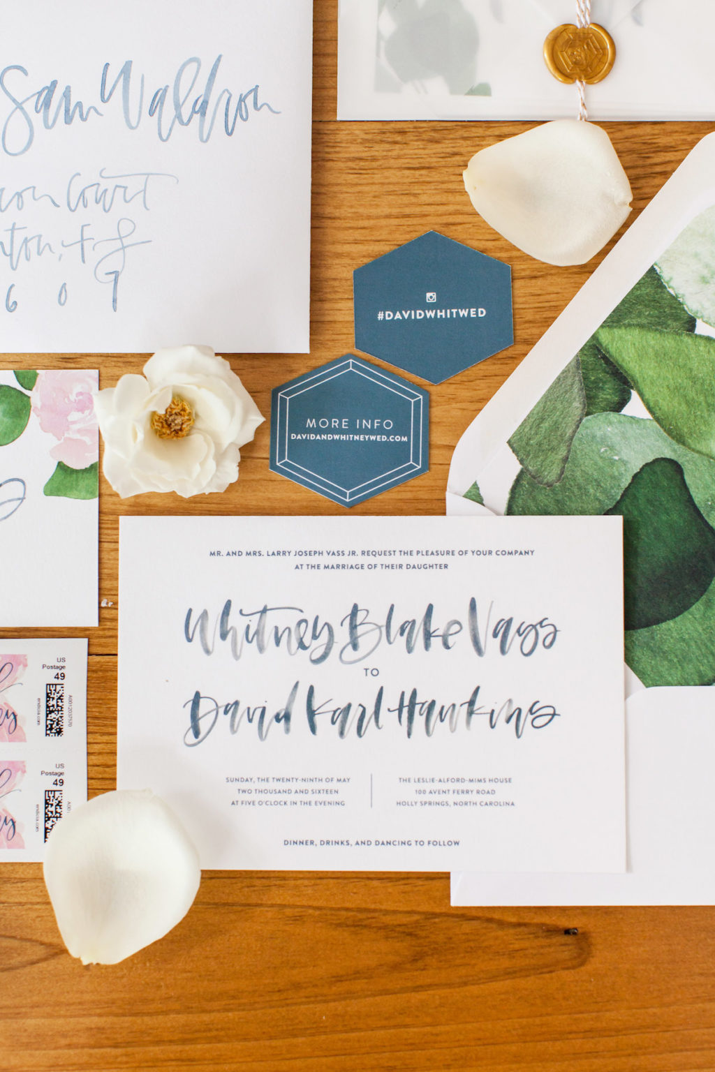 Organic Wedding Invitation Suite
