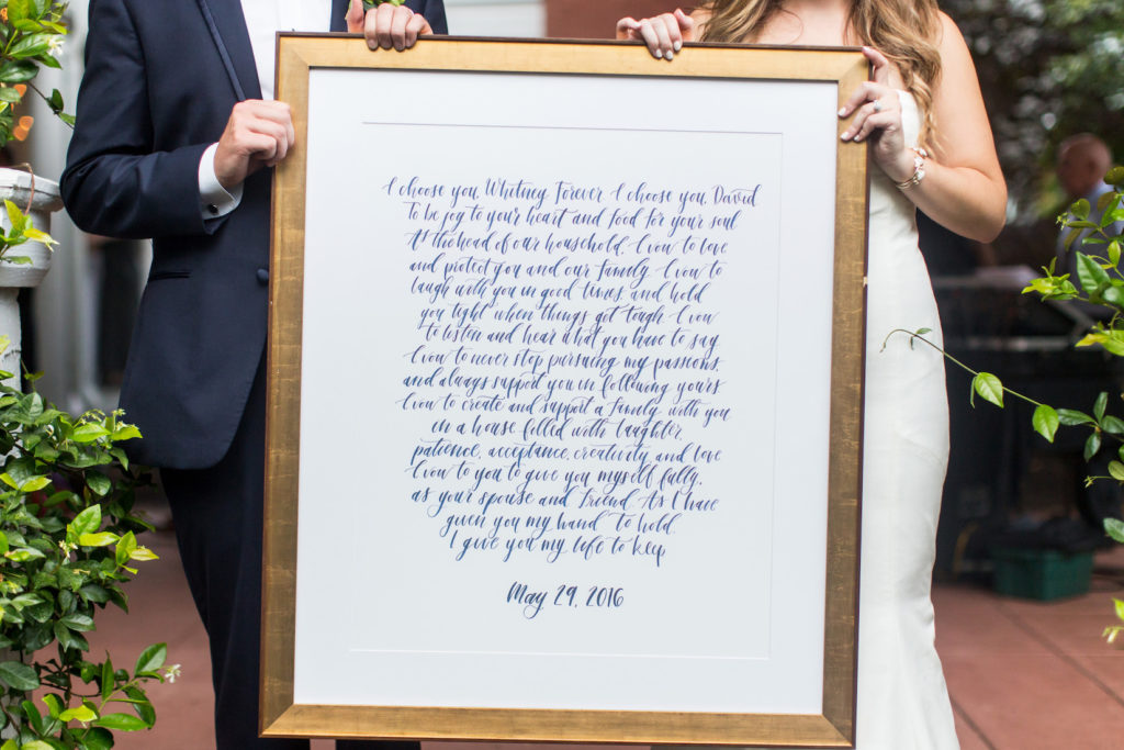 Calligraphy Wedding Vows
