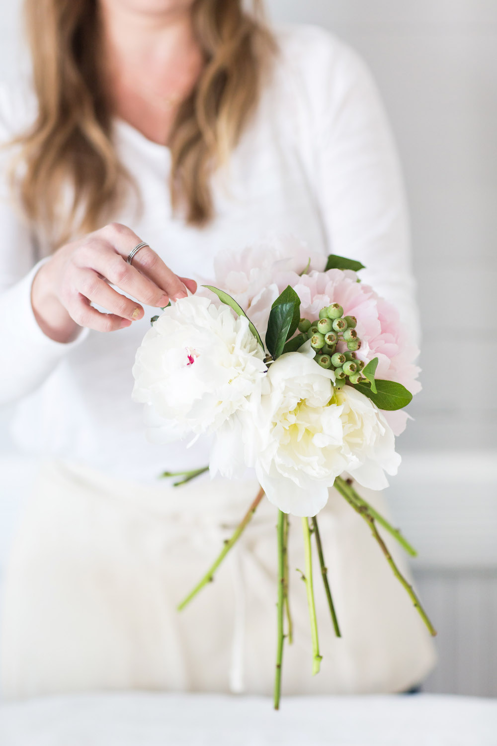 Diy Peony Wedding Bouquet Tutorial Whitney Blake