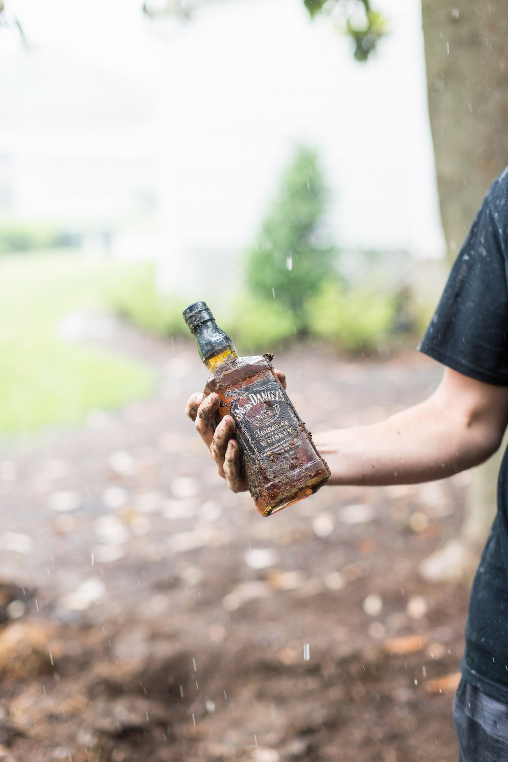 Burying the bourbon, wedding tradition