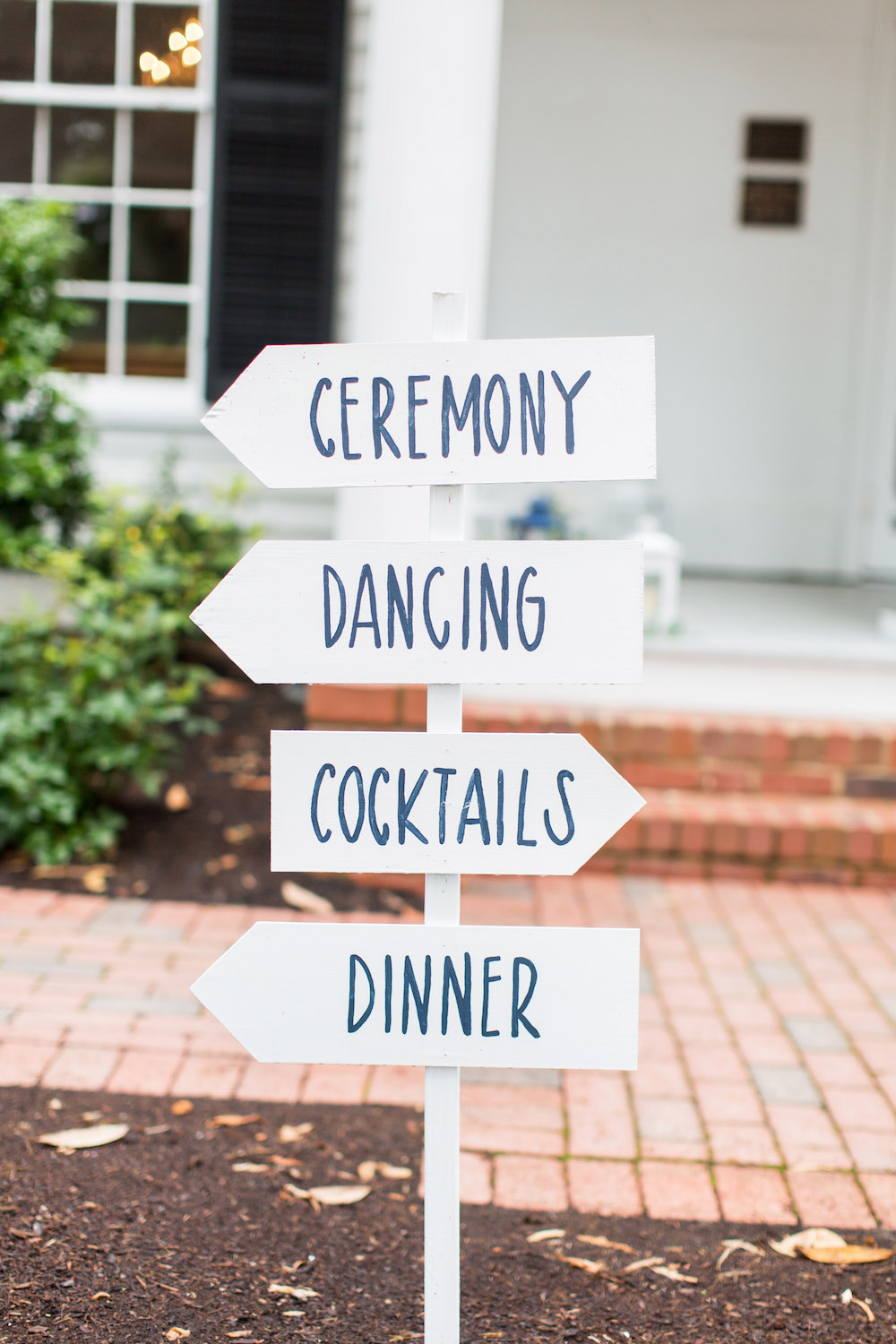 Wedding white signs