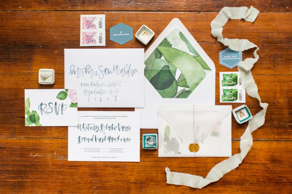 Unique wedding stationery
