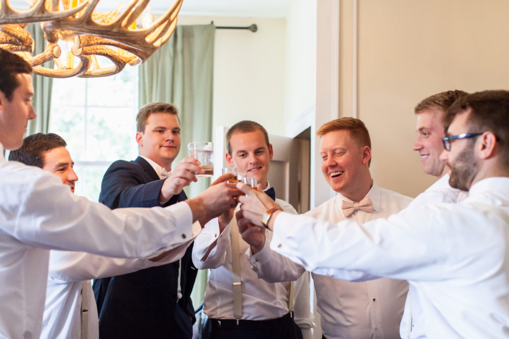 Wedding groomsmen cheers