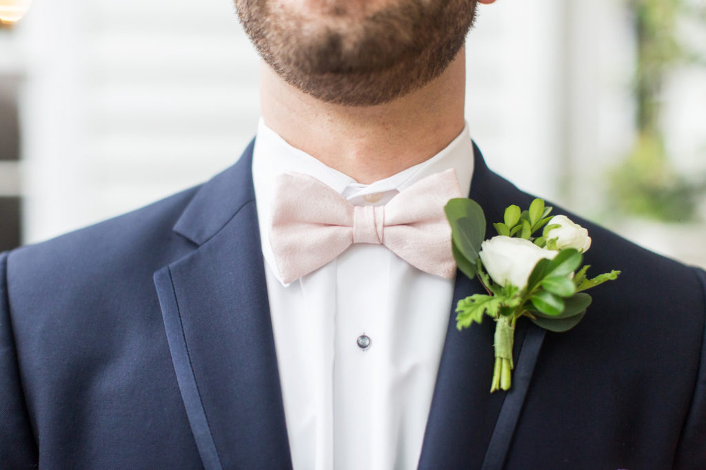 Wedding Blush Bowtie