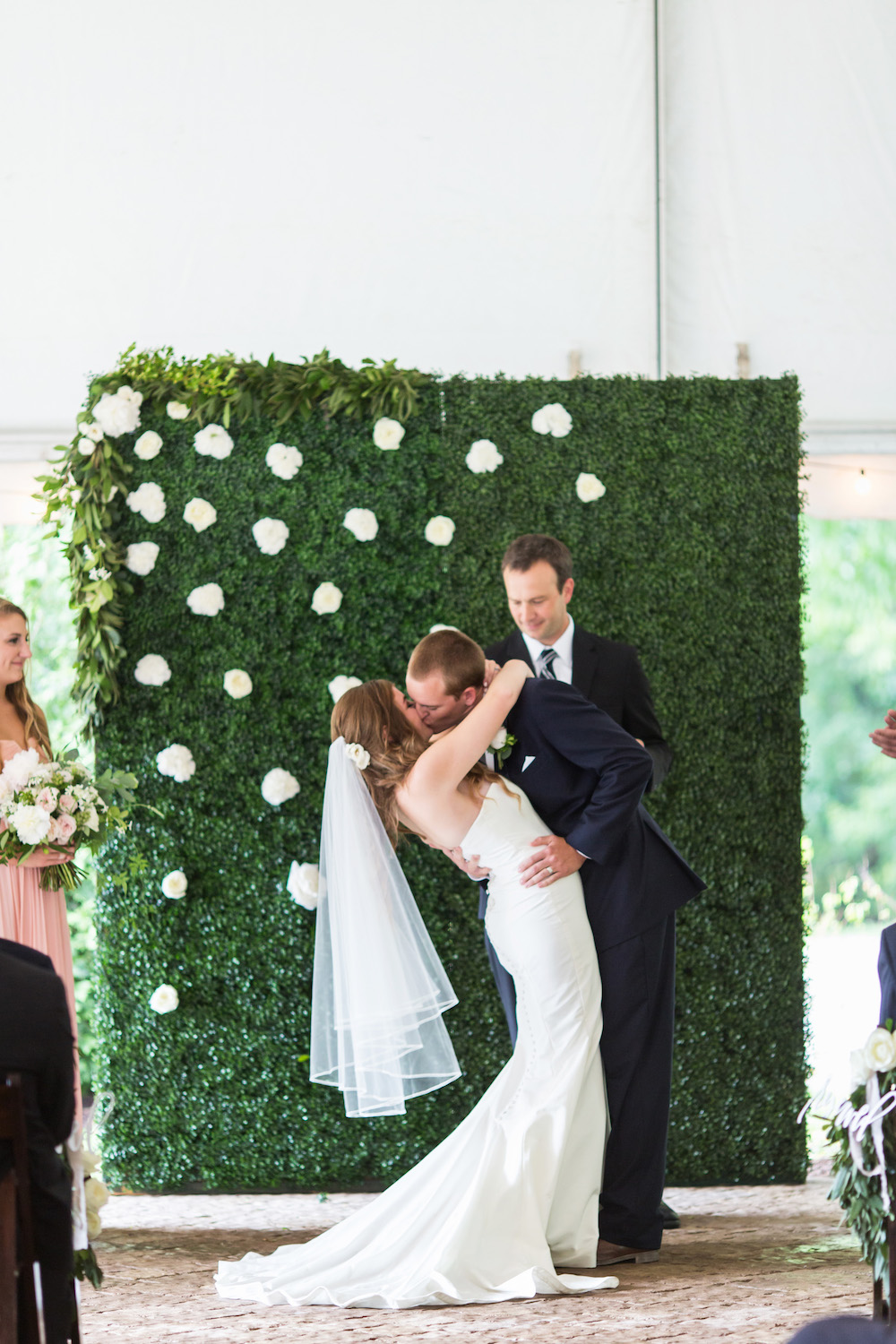 Wedding boxwood backdrop