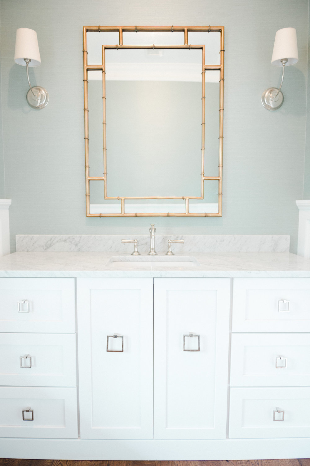Mint powder bathroom