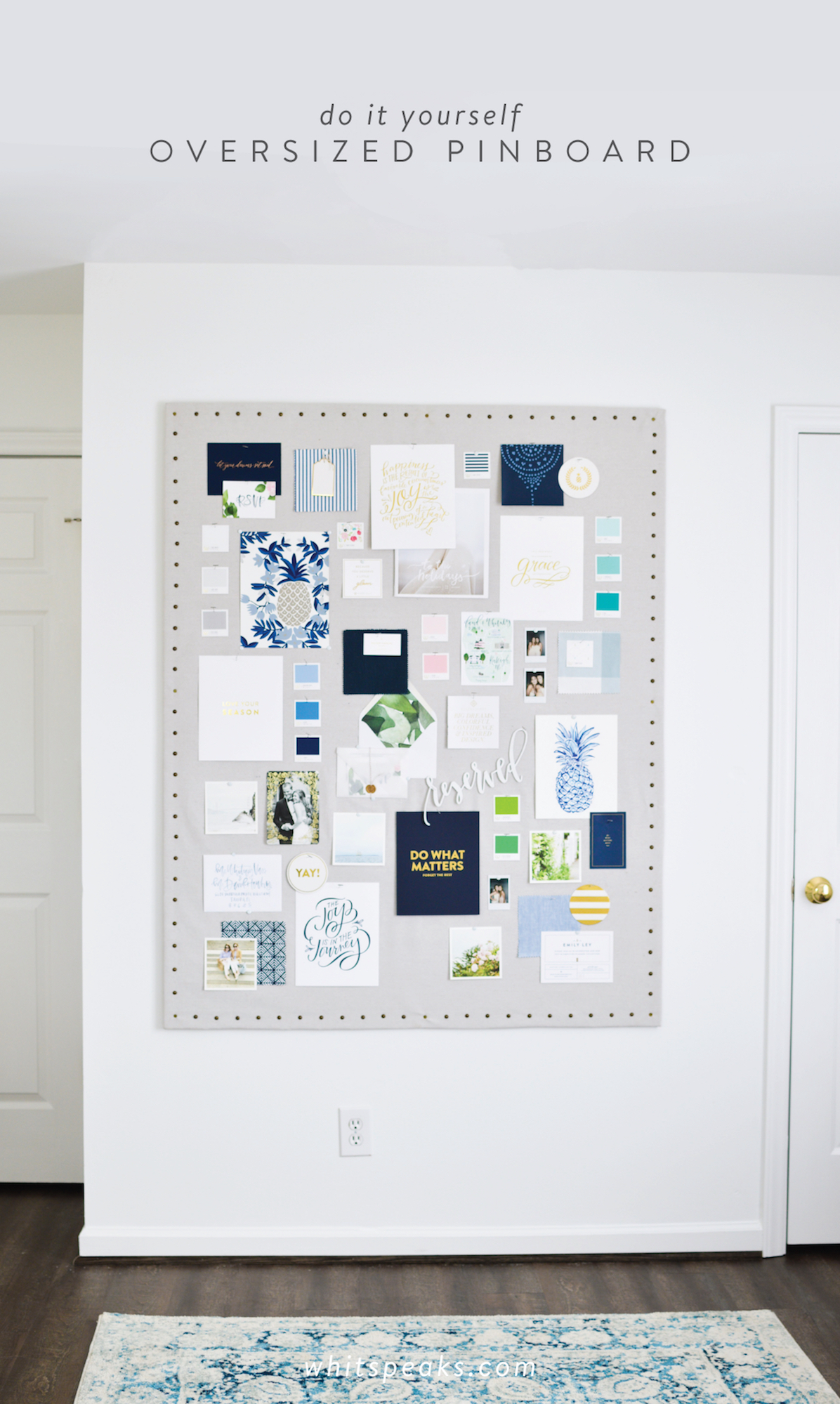 DIY Oversized Inspiration Pinboard